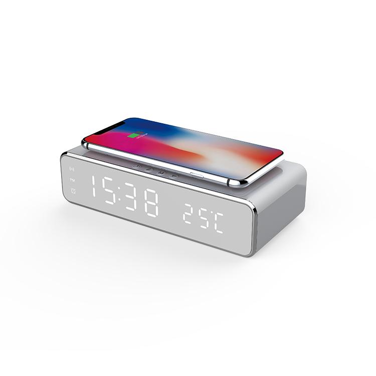 digital alarm clock wireless charger