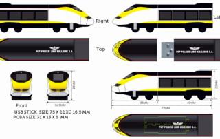 train shape usb memory disk