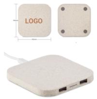 wheatstraw wireless charger square shape