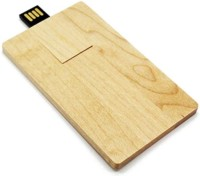 maple wooden or bamboo usb card, big logo area