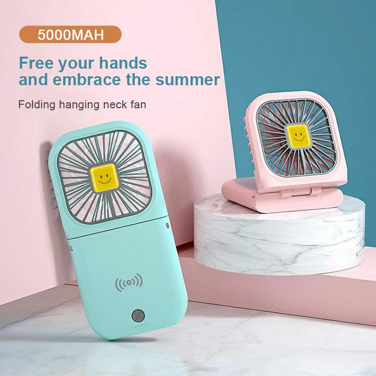 handy fan fast wireless charging pad