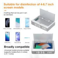 UV wireless charger clock temperature