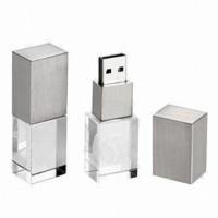 metal and crystal usb thumb drive,lighting logo