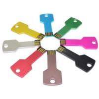 usb key in different unit colours laser logo