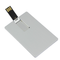 business card usb stick in metal material, good logo area
