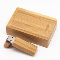 usb stick bamboo box