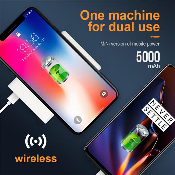 wireless power bank 5000mah