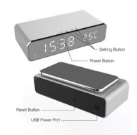 alarm clock temperature wireless charger