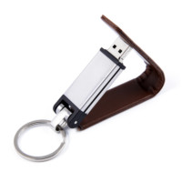 real leather or PU usb drive,embossing logo