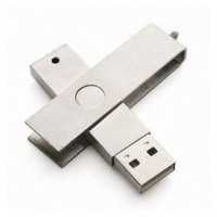 steel usb memory drive in twister design