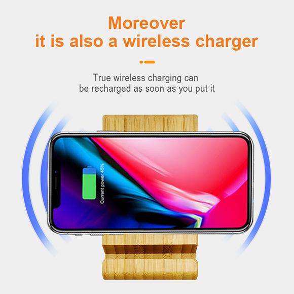 qi wireless charger 5000mah power phone holder