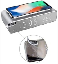 clock wireless charger with screen protector