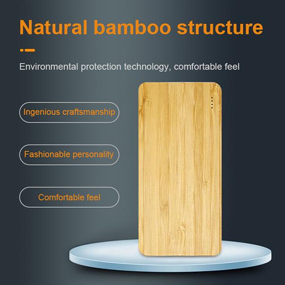 natural bamboo case power supply