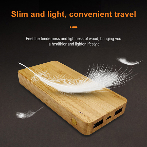 bamboo mobile charger in big capacity